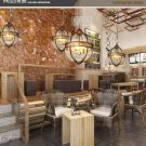 "Victorian Hotel Globe Pendant E14 Light Ceiling Lamp Home Lighting Fixture 17.7"""
