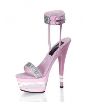 "6"" Exotic Dancer Platform Shoes, Size 6-Silver-RS/Silver"