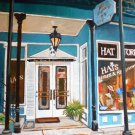 "Hat Shop on Spring St., Eureka Springs, oil, 18"" x 24"" gallery wrap"
