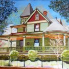 "Spring St. Mansion, Eureka Springs, Arkansas, oil, 24"" x 30"", gallery wrap"