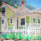 "Elk St.  Home, Eureka Springs, Arkansas, oil, 24"" x 30"" gallery wrap"