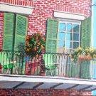Balcony, New Orleans, acrylic painting