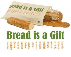 EcoBags Printed Reusable Bread Bag Eco-Friendly Organic Cotton