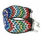 Cuff Bracelet Cz Seed Beadwork Multicolor Beads brass chain