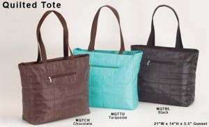 Quilted Tote Shopping Bag Turquoise Blue Handbag JoAnn Marie Designs Purse