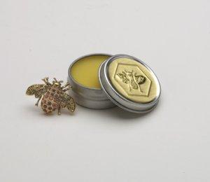 Lip Butter Balm Lemon Honey House Naturals in a Reusable Tin