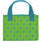 JoAnn Marie Designs Reusable Insulated Lunch Bag Lime with Turquoise Dots