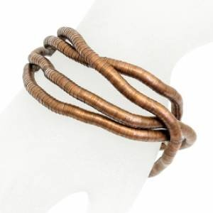 Snake Chain Flexible Bracelet Necklace Copper Plated Bendable Style