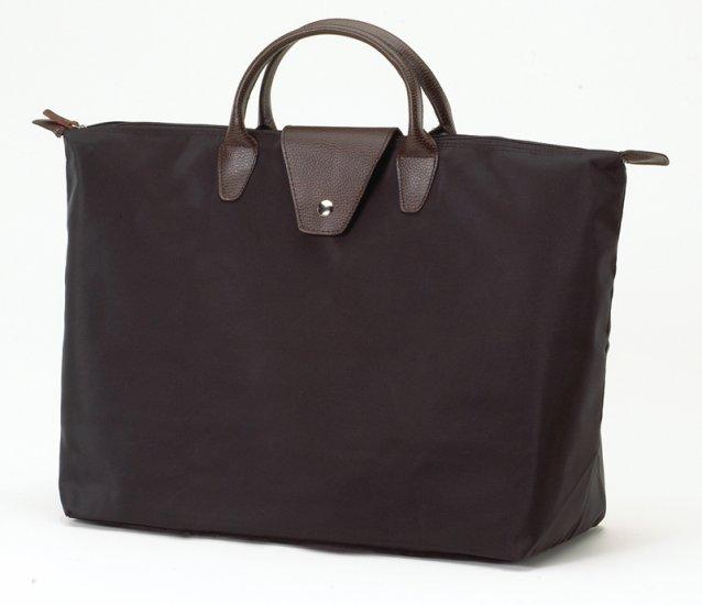 JoAnn Marie Designs Black Short Handle Fold Up Tote Bag