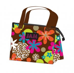 Lunch Tote Bag Eco-Friendly Reusable Recycled JAM Chocolate Floral