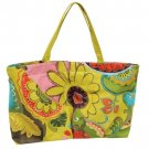 Overnight Bag Bohemian Floral Print Cotton Large Tote Luggage