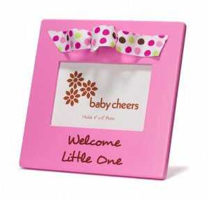 Photo Frame Baby Girl Picture Pink Welcome Little One Gift Box