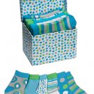 Socks in a Box 6 Pair Baby Boy Solids Circles Stripes Keepsake Box