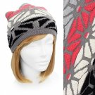 Beanie Black Gray Coral Soft Knit Hat Cap Quality Embossed