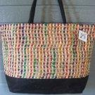 Large Bag Viva Beads Inspired VB2 Handbag Black w/ Zipper Closure