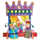 Finger Puppet 3 Puppets Theater Stage Curtain Ages 3+ Pretend Play
