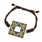 Shamballa Bracelet Aztec Design Square Multi-Colored Disk Fashion Jewelry