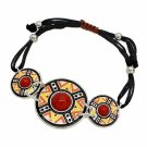 Shamballa Bracelet Aztec Design Circles Multi-Colored Disks Fashion Jewelry
