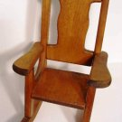 "Doll Chair Wooden Handcrafted Sturdy Teddy Bear Rocker 16"" Tall"