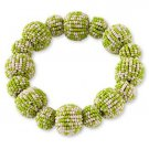 Green Seed Beaded Bauble Stretch Bracelet from Coldwater Creek