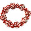 Orange Seed Beaded Bauble Stretch Bracelet from Coldwater Creek