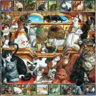 White Mountain Puzzles The World of Cats Jigsaw Puzzle 1000 Piece NEW Sealed