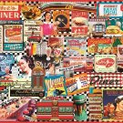 "White Mountain Puzzles Jigsaw Puzzle DINERS 1000 Piece NEW Sealed 24"" x 30"""