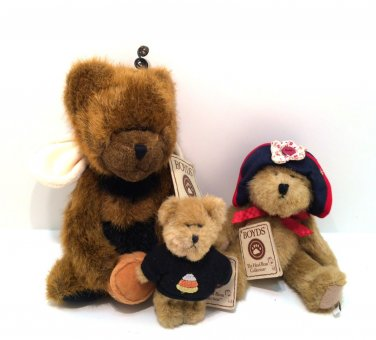Three Boyds Bears The Head Bean Collection w/ Tags