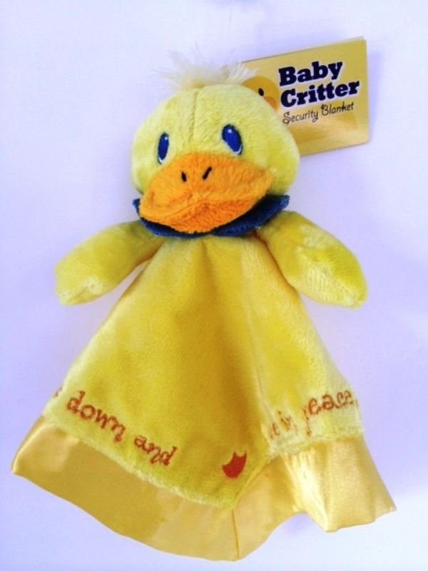 Security Blanket Christian Baby Soft Yellow Duck Scripture Embroidery