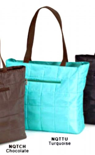 Quilted Travel Bag Carry-On Shopping Tote Turquoise Blue JoAnn Marie Designs