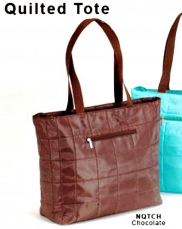 Shopping Tote JoAnn Marie Designs Quilted Bag Travel Carry-On Chocolate Brown