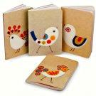 Mini Journal Set of 4 Fancy Chicks Notebooks Xenia Taler Barnes & Noble 6 x 4 in