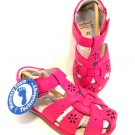 Pediped Sandal Girl Toddler Flex Nikki Leather Fuchsia Pink 6-6.5 Velcro Closure