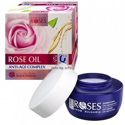 Roses Anti-Age Control Intensive Day Cream Rose Oil , Q 10, Almond Oil, Vitamin