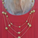 Nice Avon Tri Necklace with Filigree Beads - Eclectic #0041