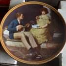 Norman Rockwell Collector Plate- Pondering On the Porch - Knowles