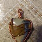 Copper and desert jasper pendant