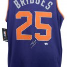 Mikal Bridges Suns Signed Purple Fast Break Fanatics Basketball Jersey Fanatics