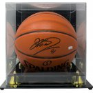 Dirk Nowitzki Mavericks Signed Replica Spalding Basketball Panini w/Display Case