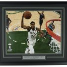 Giannis Greek Freak Antetokounmpo Signed Framed 16x20 VS Grizzlies Photo JSA