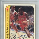 Michael Jordan Signed 1986 Fleer Sticker #8 Rookie Card Slabbed PSA/DNA