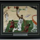 Giannis Greek Freak Antetokounmpo Signed Framed 16x20 VS Pelicans Photo JSA