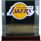 Los Angeles Lakers Full Size Basketball Glass Display Case