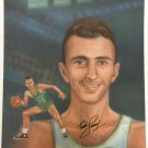 Bob Cousy Signed 18x24 Boston Celtics Lithograph Photo BAS