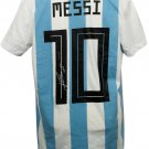 Lionel Messi Signed Adidas Argentina Home Soccer XL Jersey Messi COA