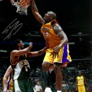 Shaquille O'Neal Signed Los Angeles Lakers 16x20 Dunk VS Seattle Photo BAS