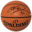 Dirk Nowitzki Dallas Mavericks Signed Spalding NBA Basketball Panini