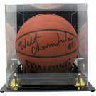 Wilt Chamberlain Lakers Signed Spalding Basketball w/ Case Score Board COA