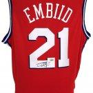 Joel Embiid Signed 76ers Red Nike Swingman Jersey Fanatics A364836