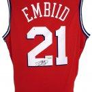 Joel Embiid Signed 76ers Red Nike Swingman Jersey Fanatics A364835